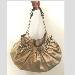 Juicy Couture gold leather hobo GORGEOUS!